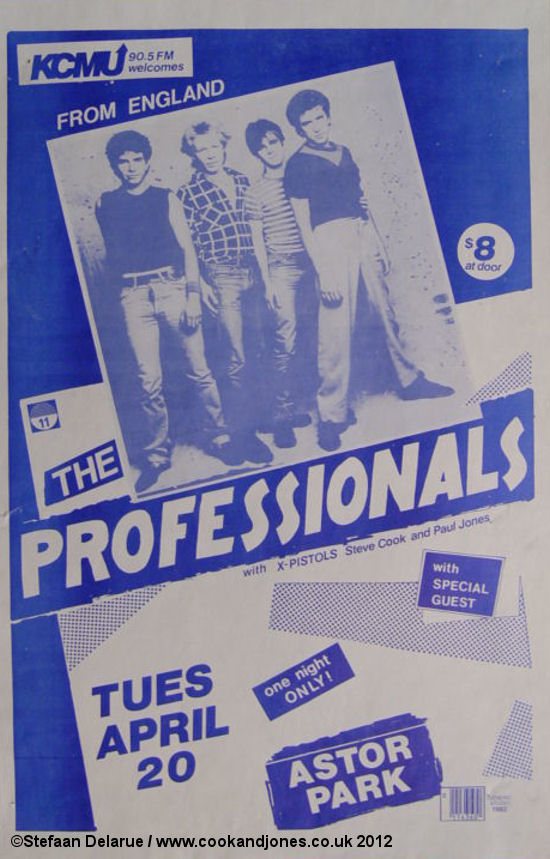 The Professionals Poster April 20th 1982